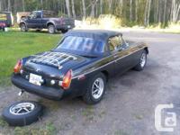 Make MG Model MGB Year 1980 Colour black kms 140 Trans