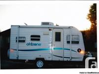 Cute ultra-lite 19 foot trip trailer-easily pulled by a