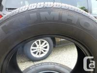 P225/65R17 KUMHO SOLUS KH16 100H M&S Tires Set or 4