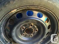 """Like new 16"""" Winter Tires and Rims. Have seen three"""