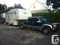 estate sale--- 2002 29.5 terry fifth wheel 1999 gmc 3/4