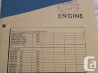 Various Ford Motor Company Canada Master Repair Manuals