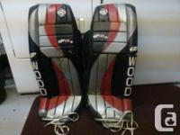 "These are Sherwood Sher-lite 2 pads, size 31"". They are"