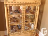 Real nice Curio Cabinet to store your treasurers Has