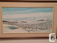 """This painting was completed in 1986. It is 30 x 15"""""""