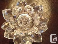 Pair Swarovski waterlily candle owners, dimension tool,