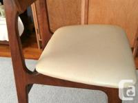 Pair Mid-Century Modern Chairs, fabric not ripped or