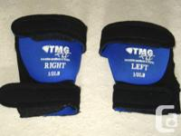 PAIR OF 1/2 pound TMG fit wrist / ankle weights  Call: