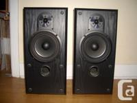 Selling a pair of B & W speakers. Model V202. Made in