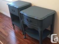 super sweet bedside tables refinished to match in a