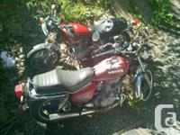 2 Honda CM 400T's - one is a 1979 the other a 1981.