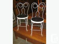 Pair of antique ice cream parlour chairs. Great look