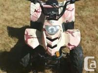 Great pair of kids quads for sale. Blue one is 124cc,