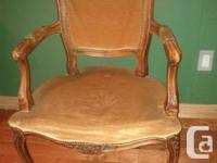 Beautiful pair of vintage Louis style chairs.