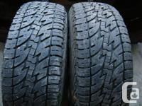Pair P235/70R16 Motomaster Total Terrain tires with