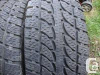pair of   Nokian  235/65/17  M+S tires  52% tred