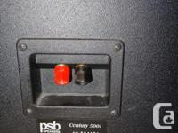 PSB Century 500i speakers are made in Canada - good