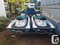1997 Sea Doo GTX machines in excellent condition. One