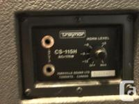 Pair of Traynor CS-115H Passive speakers, Great old PA