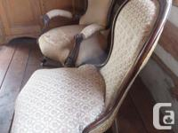 Antique pair of Victorian parlor chairs needing