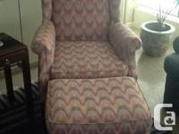 Pair of living room wing back chairs in very good
