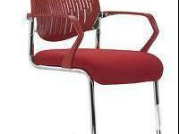 SELLING PAIR OF Zuo 205331 Synergy Sled Chair - Red.