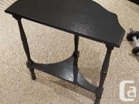 Lovely matching side tables. Some chips on paint and