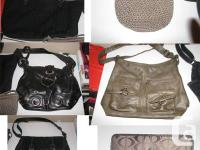 HAND BAGS AVAILABLE, fantastic price.  Collection of 5