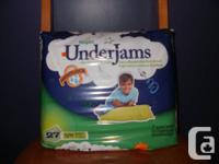 This is a new bundle of 27 Pampers UnderJams, absorbing