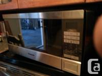 High end panasonic stainless steel microwave/convection