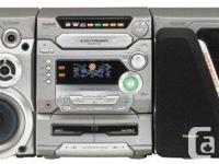 Panasonic SA-AK47 stereo system * 5-CD changer with 5