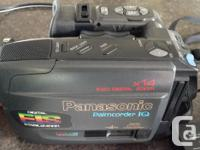 this is an older Panasonic camcorder IQ in good