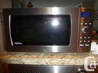 Stainless Steel Panasonic Genius Prestige Microwave.