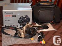 As new Panasonic - Lumix DMC-GH1 DSLR camera, 14mp,