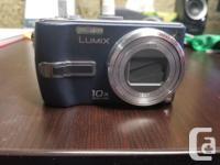 Panasonic Lumix DMC-TZ3 blue digital camera. 7.2