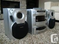Panasonic SA-AK18 5 CD Changer, Dual Tape Deck, Radio