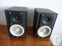 Very high quality Paradigm bookshelf speakers. Magnetic