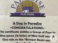 Pass for a group of 4 to Parksville's Paradise Fun Park