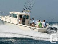 Parker 2520 XLD Sport Cabin Off Shore Fishing Boat with