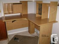 Corner desk with chair (chair requires two screws)