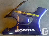 Various used parts from a Honda CBR600F3: Left side