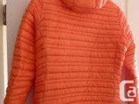 Womens Patagonia Ultralight down jacket Colour: Coral