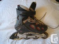 1 pair Salomon rollerblades, size 9.5, although they
