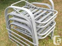 Complete aluminum patio furniture set including 38x60