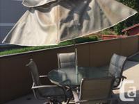 """Various patio furniture: Deck table rectangular 40""""x72"""""""