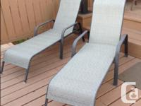 Patio Furniture for sale-Glass Table, four chairs, 2