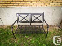 Rust-resistant, powder coated steel frame Length 48.24