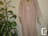 never worn, beautiful vintage long pink sheer Designer