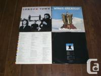 PAUL McCARTNEY & WINGS vinyl record collection:  London