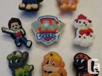 Set of 8 Paw Patrol shoe charms for Crocs or as